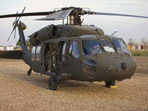 A UH-60L Black Hawk with Twin M240G Machine Guns