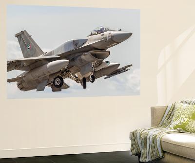 A United Arab Emirates F-16E Desert Falcon Taking Off-Stocktrek Images-Wall Mural
