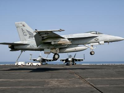 A US Navy F/A-18E Super Hornet Prepares to Land Aboard USS Eisenhower-Stocktrek Images-Photographic Print