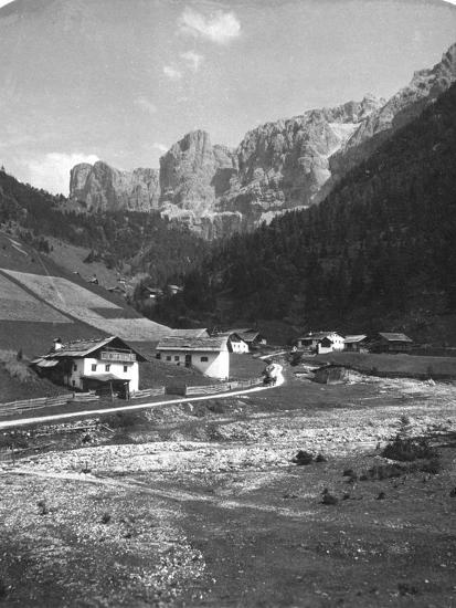A Valley in Wolkenstein, Tyrol, C1900s-Wurthle & Sons-Photographic Print