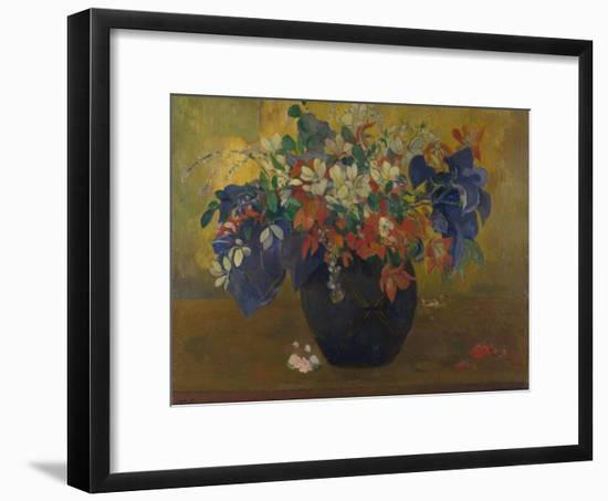 A Vase of Flowers, 1896-Paul Gauguin-Framed Giclee Print