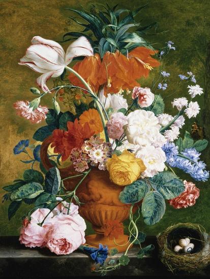 64777b48 A Vase of Rich Summer Flowers Photographic Print by Jan van Huysum   Art.com