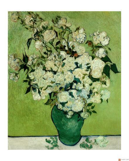 A Vase Of Roses C1890 Giclee Print By Vincent Van Gogh Art