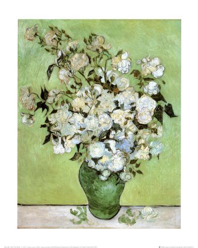 A Vase of Roses, c.1890-Vincent van Gogh-Art Print