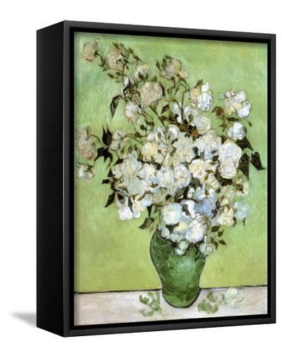 A Vase of Roses, c.1890-Vincent van Gogh-Framed Canvas Print