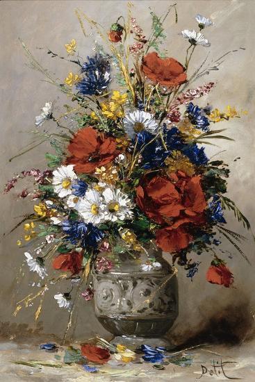 A Vase of Summer Flowers-Eugene Petit-Giclee Print