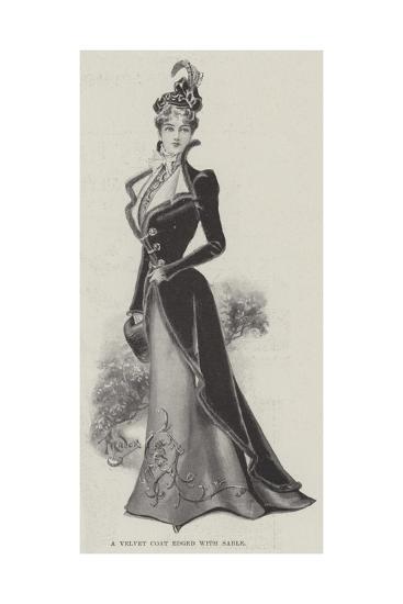 A Velvet Coat Edged with Sable--Giclee Print