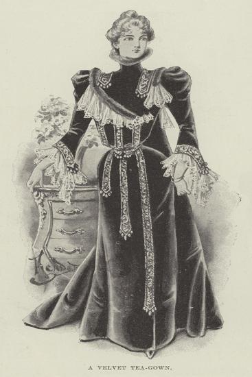 A Velvet Tea-Gown--Giclee Print