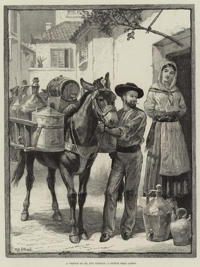 A Vendor of Oil and Vinegar, a Sketch Near Lisbon-William Heysham Overend-Giclee Print