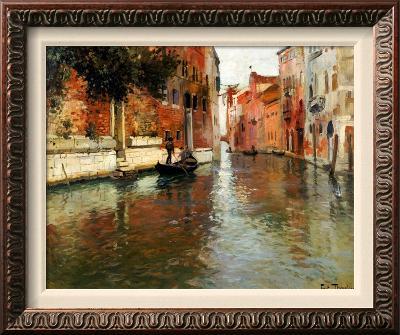 A Venetian Backwater-Fritz Thaulow-Framed Canvas Print