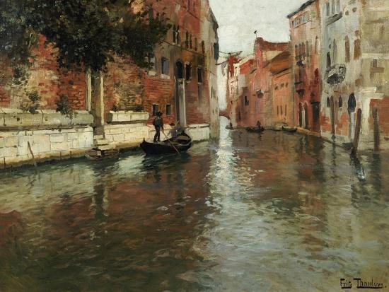 A Venetian Backwater-Fritz Thaulow-Premium Giclee Print