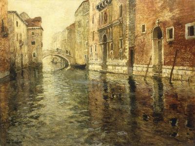 A Venetian Canal Scene-Frits Thaulow-Giclee Print