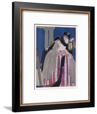 A Venetian Couple in Carnival Costume--Framed Giclee Print