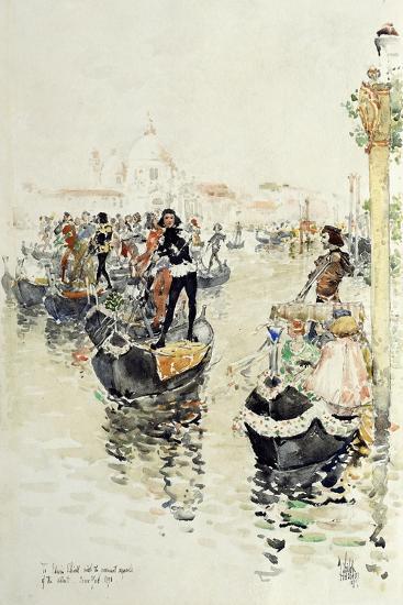 A Venetian Regatta, 1891-Childe Hassam-Giclee Print