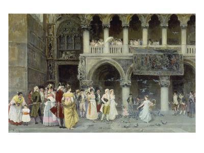 A Venetian Wedding, 1900-Gabriel Puig Roda-Giclee Print