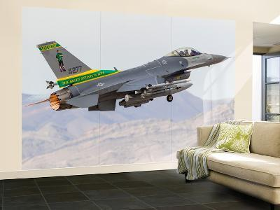 A Vermont Air National Guard F-16C Fighting Falcon Taking Off-Stocktrek Images-Wall Mural – Large