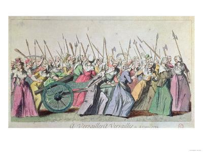 A Versailles, a Versailles' March of the Women on Versailles, Paris, 5th October 1789--Giclee Print