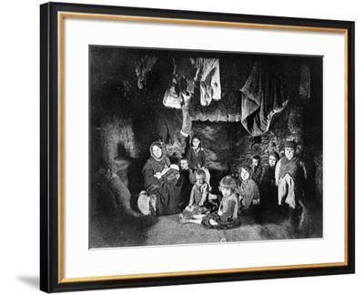 A Very Distressed Family, Carraroe, C.1900-20--Framed Photographic Print