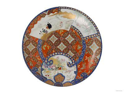 A Very Large Imari Dish Decorated in Various Coloured Enamels, 19th Century--Giclee Print