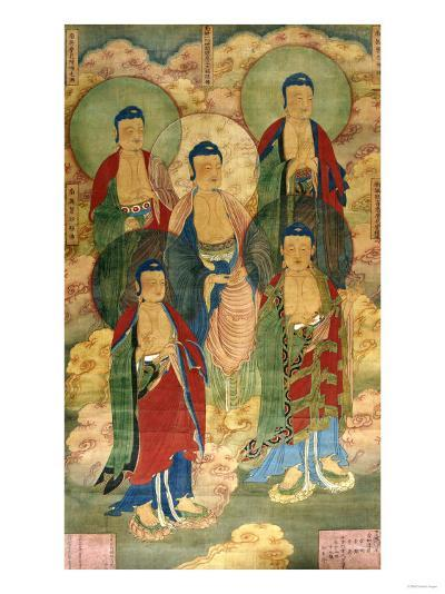 A Very Rare Buddhist Votive Painting, Dated Wanli 19th Year--Giclee Print