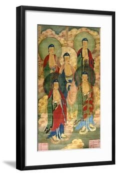 A Very Rare Buddhist Votive Painting, Dated Wanli 19th Year-null-Framed Giclee Print