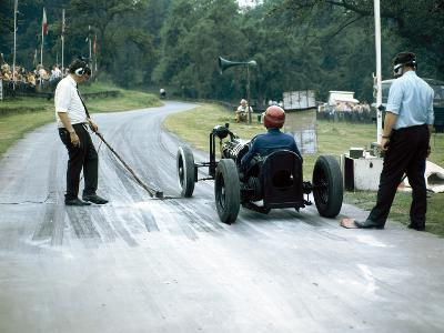 A Veteran Car at Prescott Race Track, Gloucestershire--Photographic Print