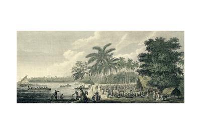 A View at Anamooka - Society Islands-John Webber-Giclee Print