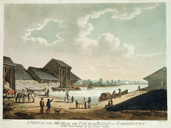 A View at the Head of the Canal at Paddington--Giclee Print