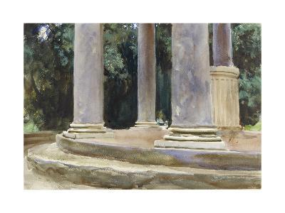 A View Between the Columns of a Tempietto (Watercolour and Touches of Bodycolour over Indications i-John Singer Sargent-Giclee Print
