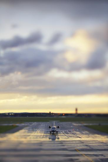 A View Down the Runway at an Australian Airport-Keith Ladzinski-Photographic Print