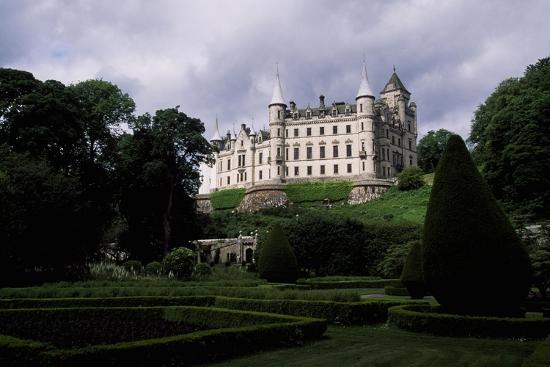 A View from Gardens of Dunrobin Castle, Near Golspie, Sutherland, Scotland, 14th-19th Century--Giclee Print