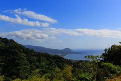 A View from the Mountains in the North of Dominica Island Toward the Town of Portsmouth-Roff Smith-Photographic Print