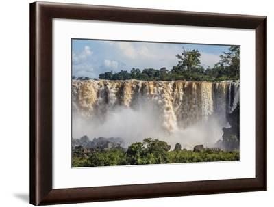 A View from the Upper Trail, Iguazu Falls National Park, Misiones, Argentina, South America-Michael Nolan-Framed Photographic Print