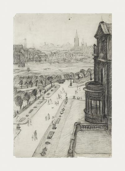A View From The Window Of The Royal Technical College, Looking Towards Manchester, 1924-Laurence Stephen Lowry-Premium Giclee Print
