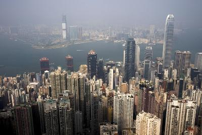 A View from Victoria Peak in Hong Kong, China-Paul Hilton-Photographic Print
