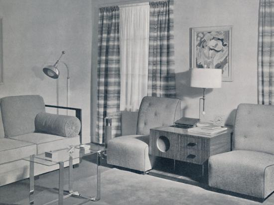 'A view in a two-room apartment in the Keeler Building, Grand Rapids, Michigan', 1935-Unknown-Photographic Print