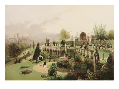 A View in the Gardens at Alton Towers - The Seat of the late the Right Honourable Earl of Shrewsbur--Giclee Print