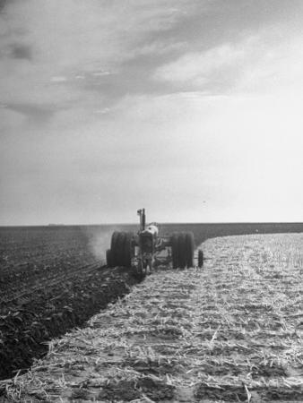 A View of a Driveless Tractor Used on Farm