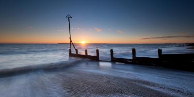 A View of a Groyne at Hayling Island-Chris Button-Photographic Print