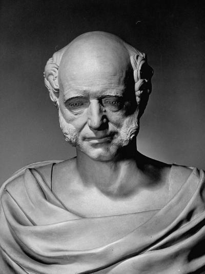 A View of a Life Mask of Martin Van Buren-Bernard Hoffman-Premium Photographic Print