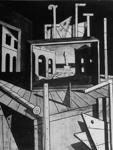 A View of a Painting by Artist Giorgio De Chirico