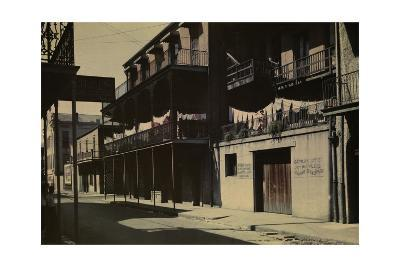 A View of a Street in the French Quarter-Edwin L^ Wisherd-Photographic Print