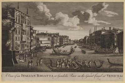 A View of an Italian Regatta or Gondola Race on the Grand Canal at Venice, Etc--Giclee Print