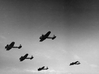 A View of Bomber Planes Being Used During US Army Maneuvers-John Phillips-Premium Photographic Print