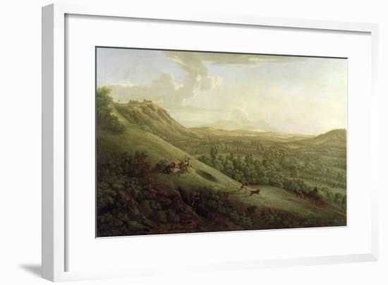 A View of Boxhill, Surrey, with Dorking in the Distance, 1733-George Lambert-Framed Giclee Print