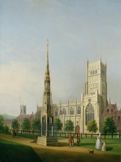 A View of Bristol High Cross and Cathedral, C.1750-Samuel Scott-Giclee Print