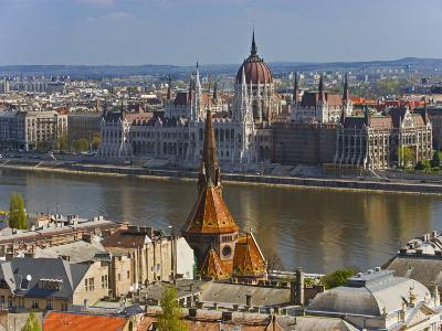 A View of Budapest from Castle Hill, Hungary-Joe Restuccia III-Photographic Print