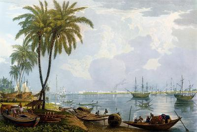 A View of Calcutta, from a Point Opposite to Kidderpore, 1837, Engraved by Robert Havell the…-James Baillie Fraser-Giclee Print
