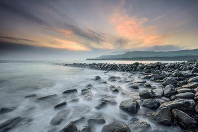 A View of Clavell's Pier Near Kimmeridge-Chris Button-Photographic Print