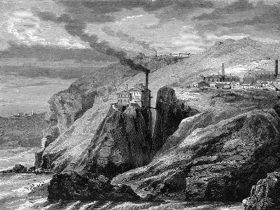 A View of Cornwall, England, 19th Century-Jean Baptiste Henri Durand-Brager-Giclee Print